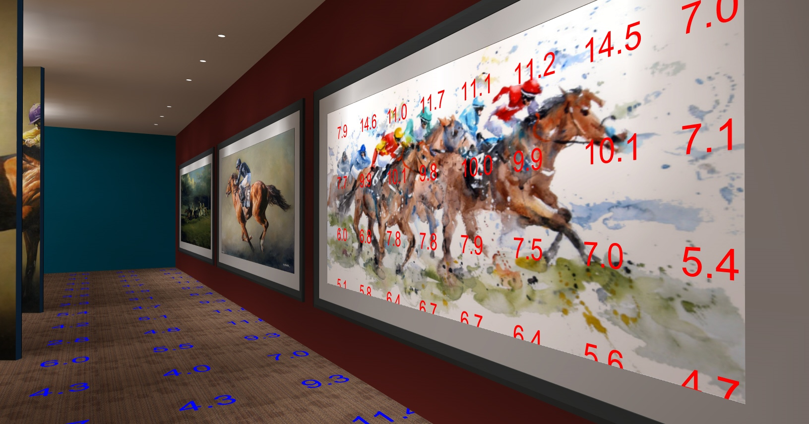 OHG Horse Racing Gallery Render with FC